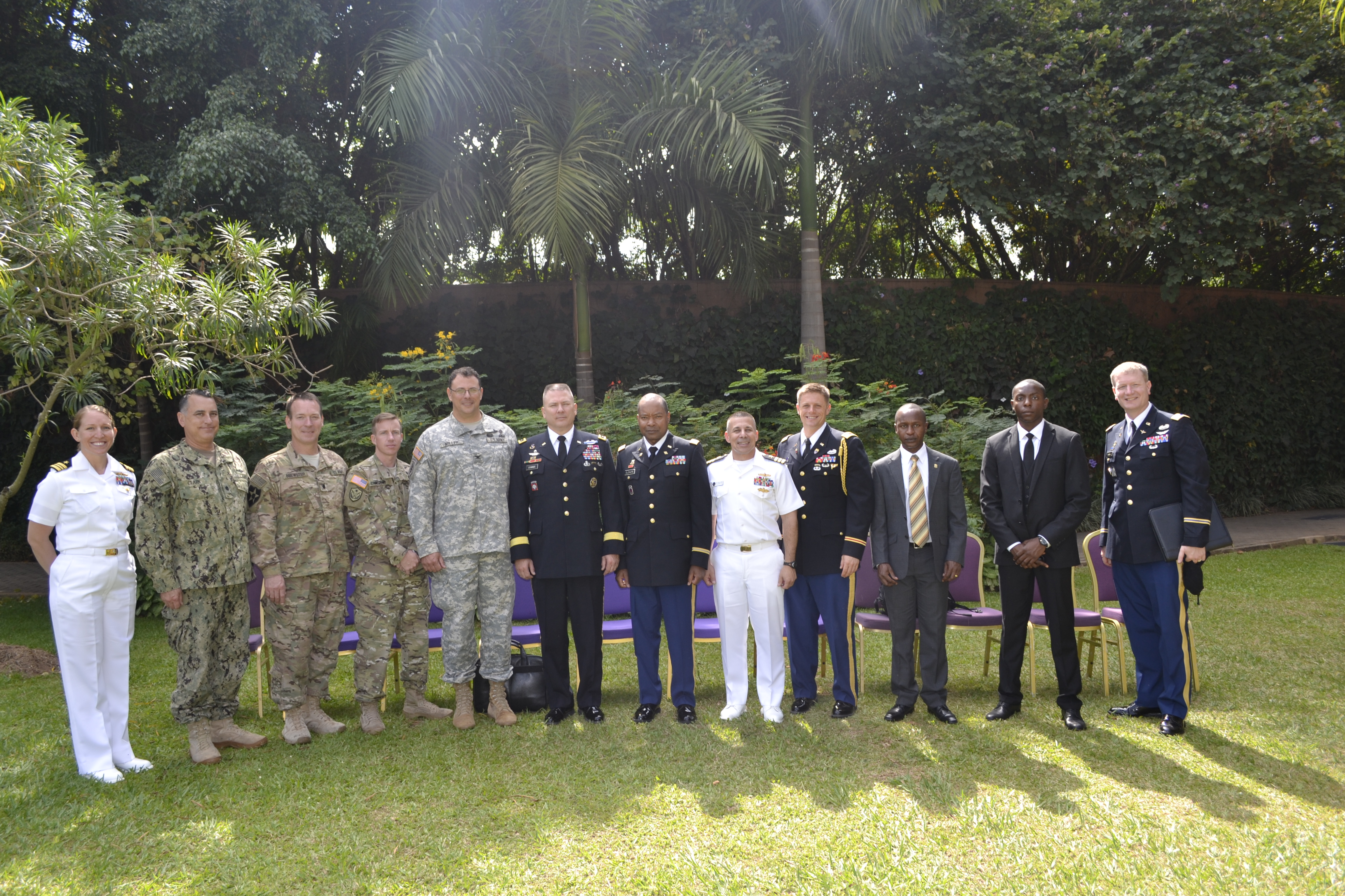 Combined Joint Task Force – Horn of Africa group photo during the Africa Center for Strategic Studies Managing Security Resources in Africa Seminar, Kampala, Uganda. (CJTF-HOA photo, Released)