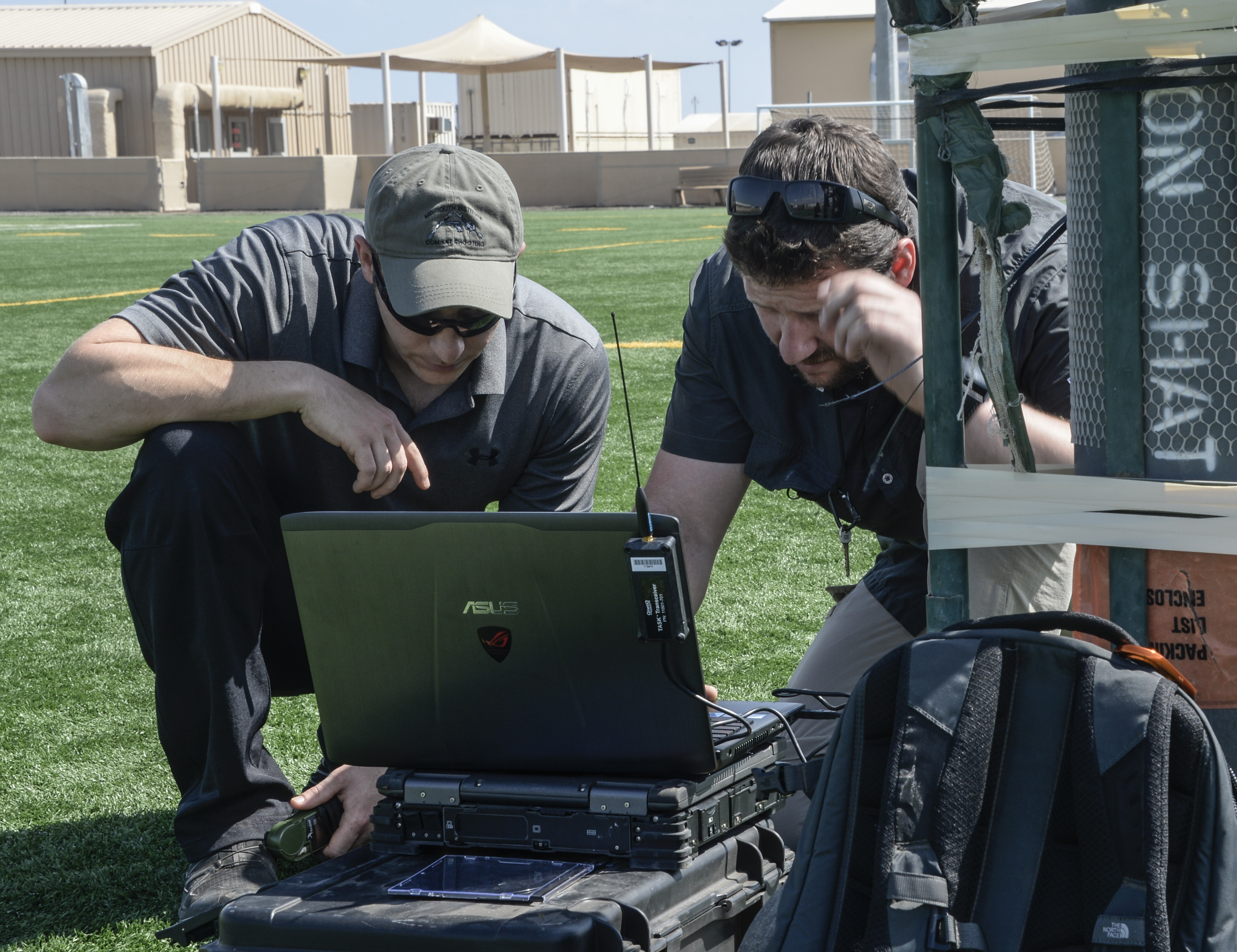 CAMP LEMONNIER, DJIBOUTI- U.S. Air Force Special Operations Weather Technicians, Special Operations Command Africa (SOCAF,) participate in the Upper Air Sounding Project by set up a computer for preparation to download information from a weather balloon at Camp Lemonnier, Dec. 8, 2016. The Upper Air Sounding Project is a joint venture between the Horn of Africa and the special operation forces on behalf of Special Operations Command Africa.