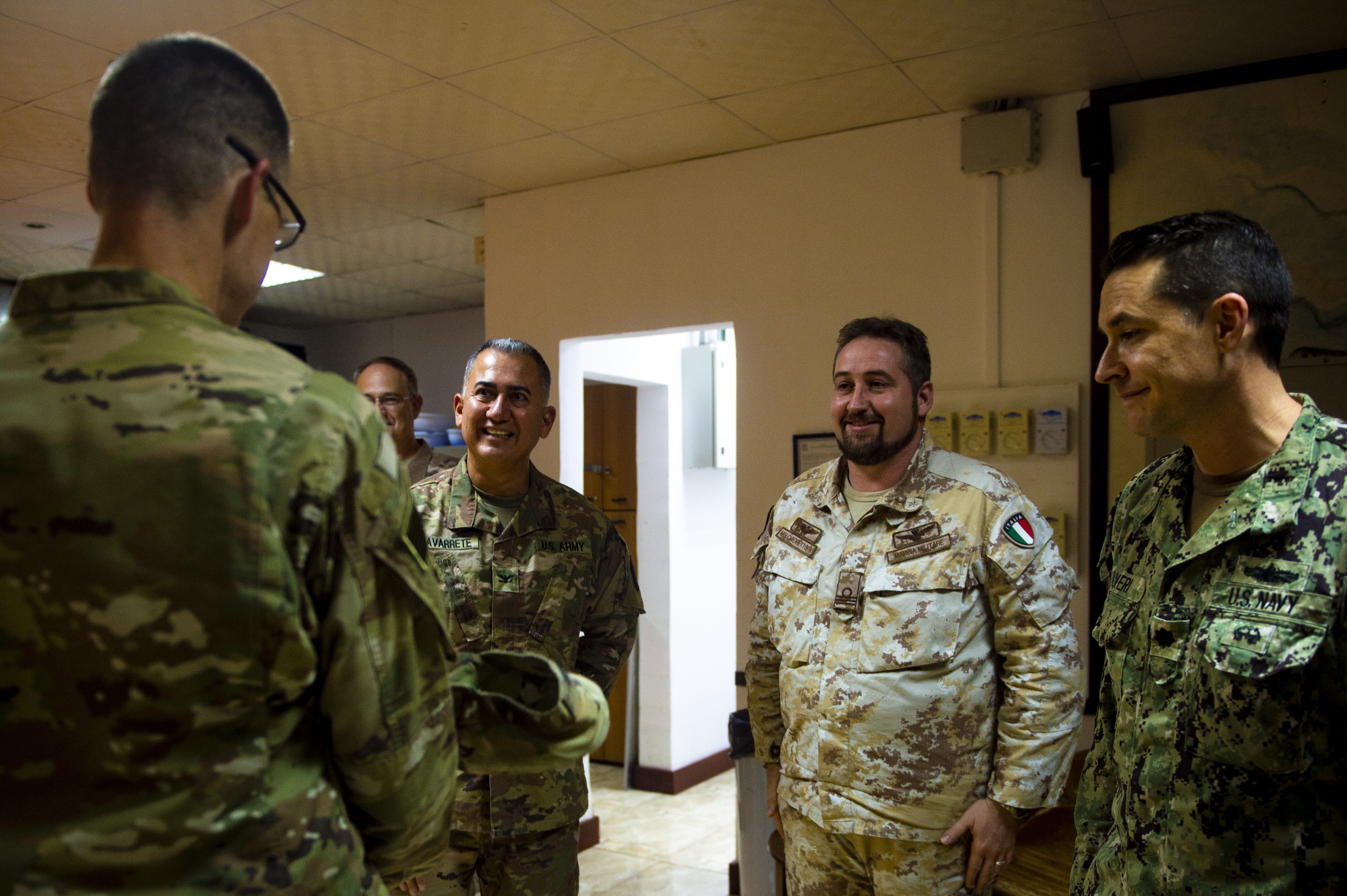 Maj. Gen. Craig hosts social hour with foreign officers.